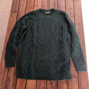 Women's Dark Green Cable Knit Sweater on Poshmark